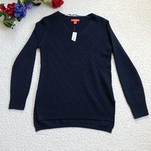 Joe Fresh Sweater Navy V Neck Women's Small NWT